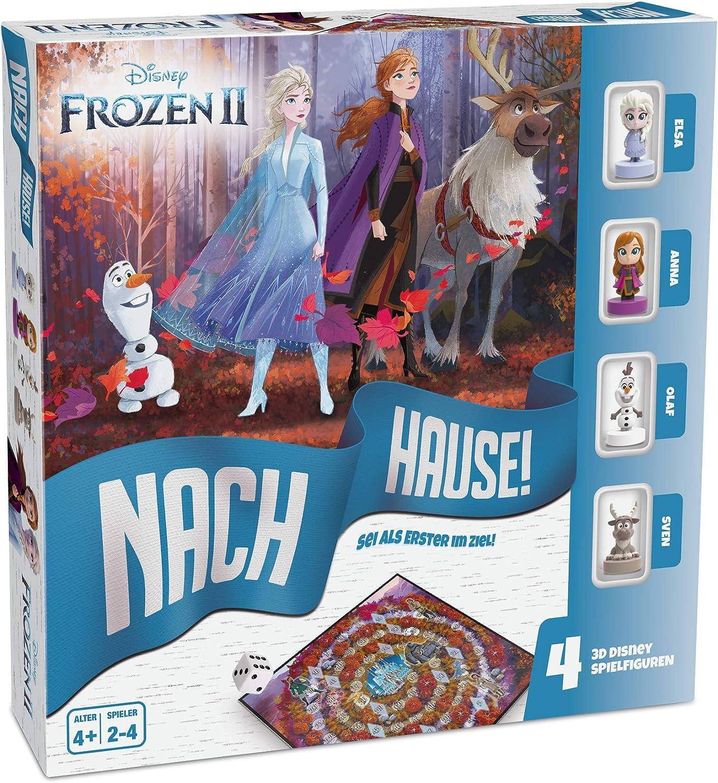 ASS Spielkartenfabrik Reina de Hielo 2 – a casa – El Juego de Dados Alrededor de la Carrera hacia el Objetivo con Elsa, Anna, Olaf y Sven como Figuras de Disney detalladas (22501062)
