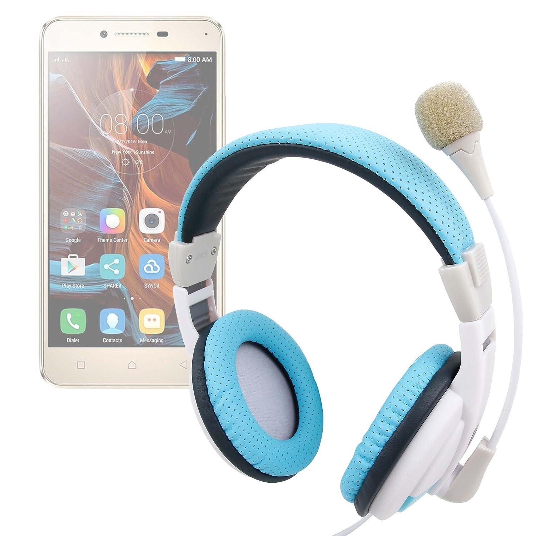 DURAGADGET Auriculares de Diadema en Azul y Blanco con Rueda de ...