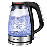 Amazon Price History for:Aicok Glass Electric Kettle 1.7L Fast Water Kettle Premium Strix Thermostat Control Kettle LED Indicator Light Cordless Kettle, Auto Shut Off With Boil Dry Protection FDA Certified Tea Kettle, 1500W