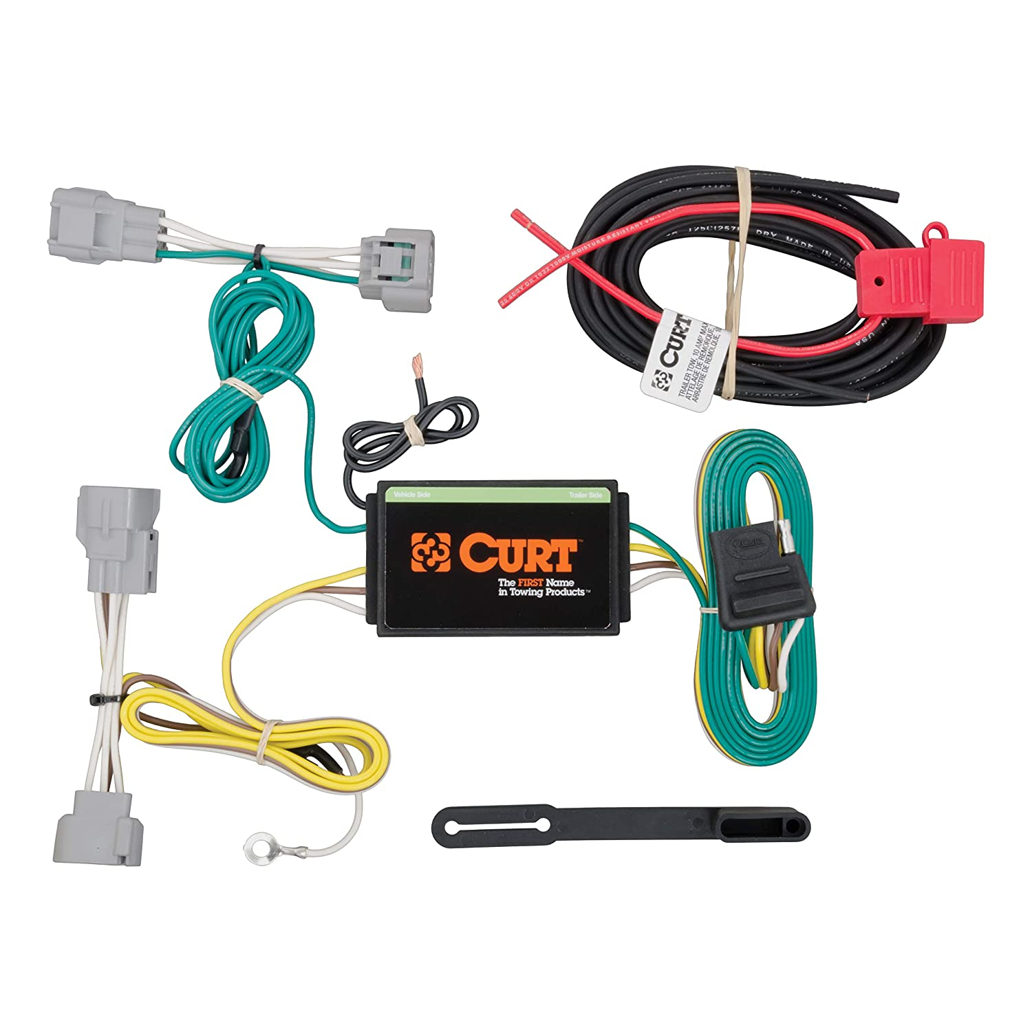 amazon com: curt 56208 vehicle-side custom 4-pin trailer wiring harness for  select jeep cherokee: automotive