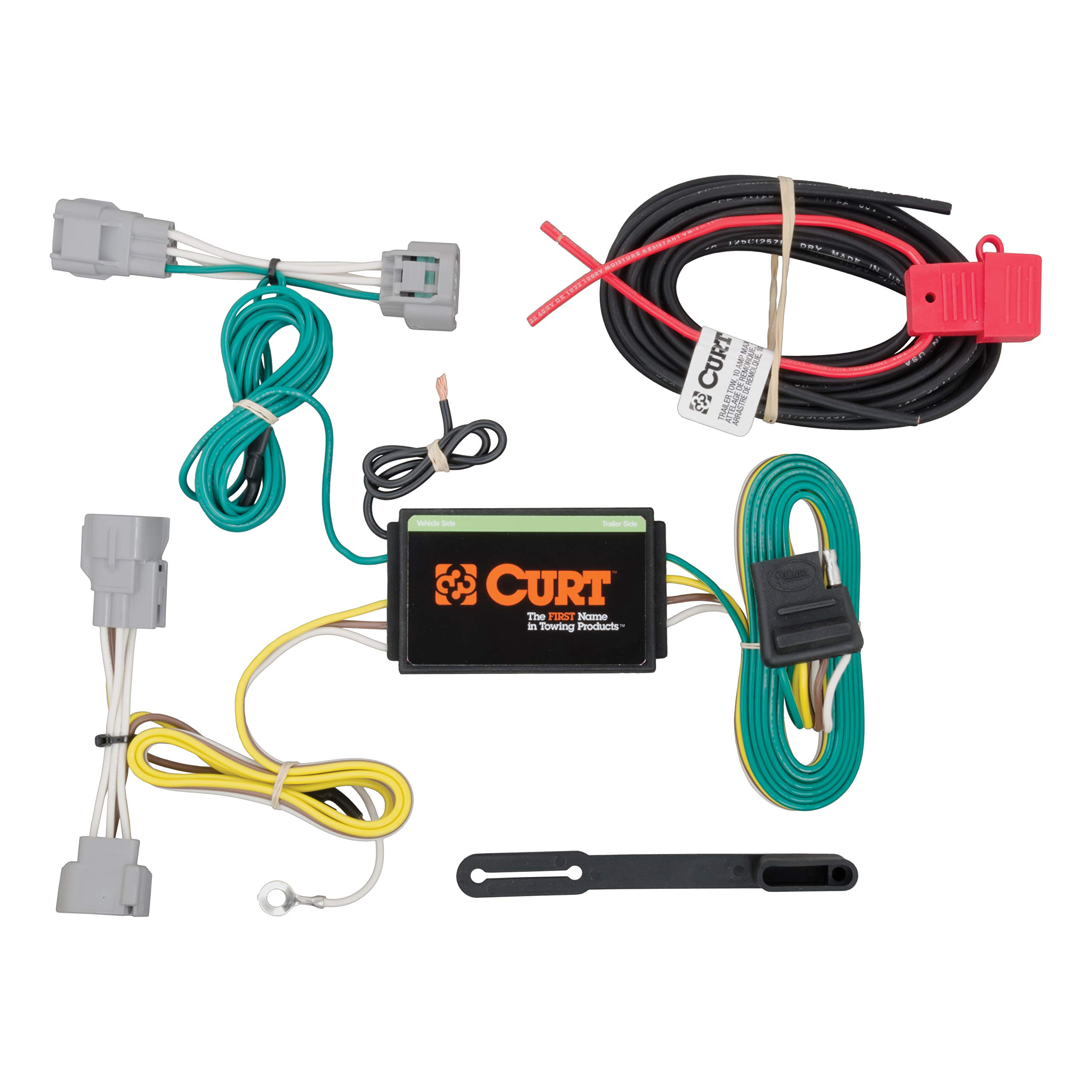 CURT 56208 Vehicle-Side Custom 4-Pin Trailer Wiring Harness for Select Jeep Cherokee by CURT