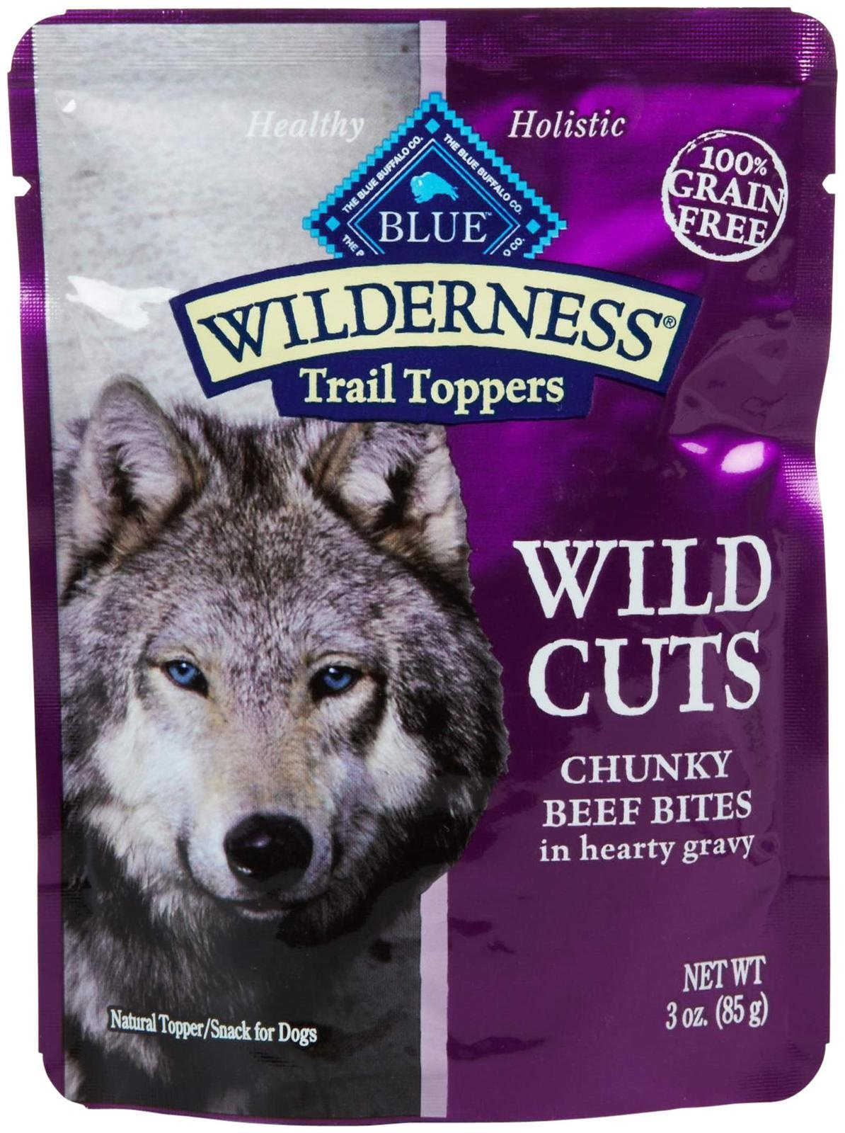 Blue Buffalo Wilderness Trail Toppers Chunky Beef Bites Dog Food, 24 By 3 Oz. by Blue Buffalo