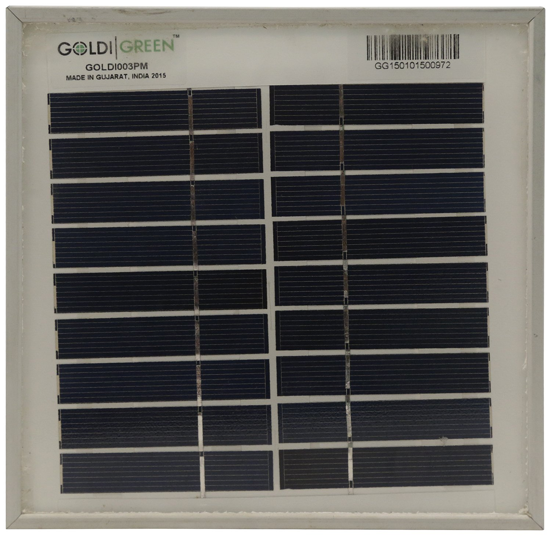 Goldi Green 3W 10.8V Solar Panel