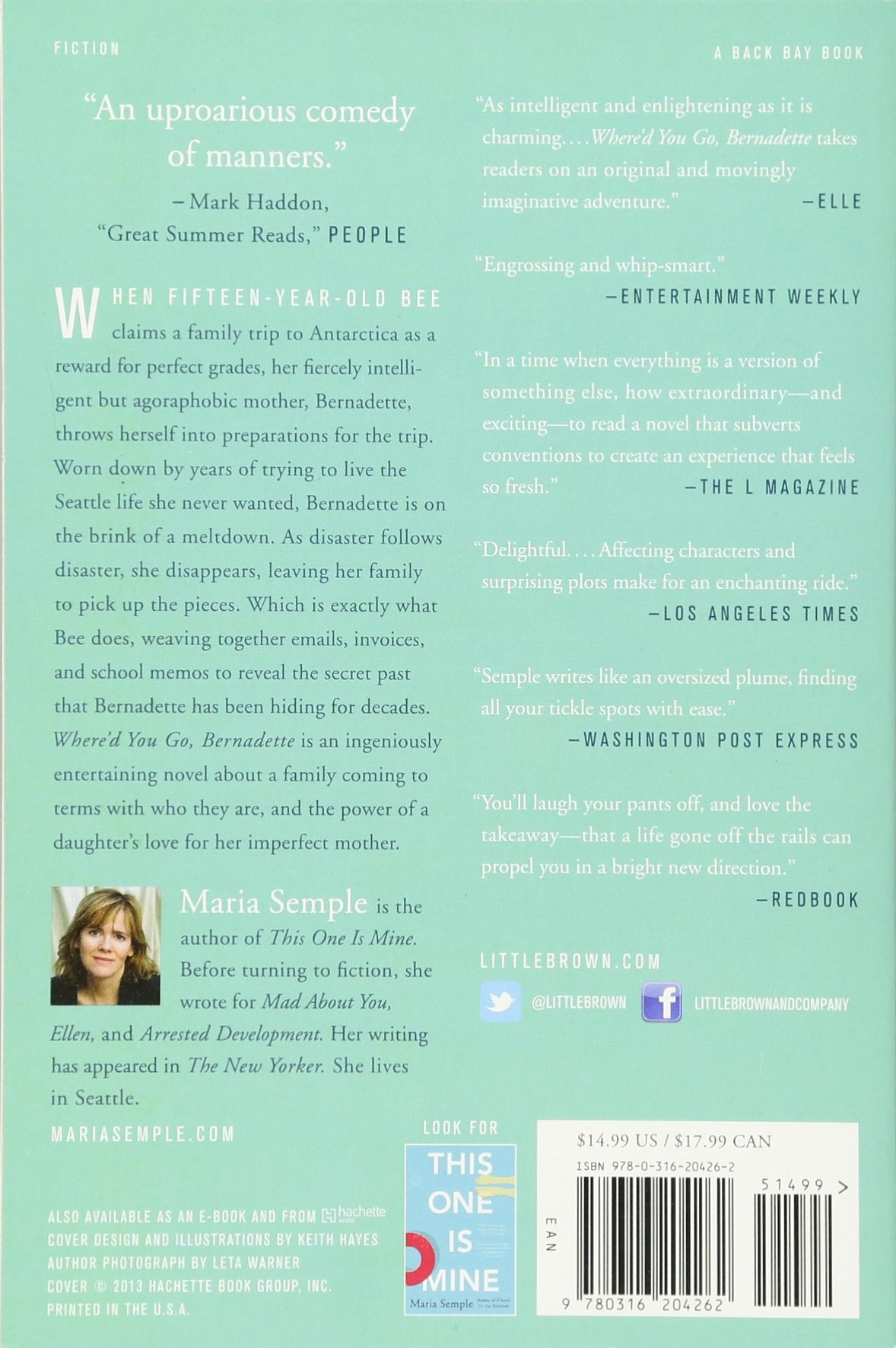 Where'd You Go, Bernadette: A Novel: Maria Semple: 8601400272138:  Amazon: Books