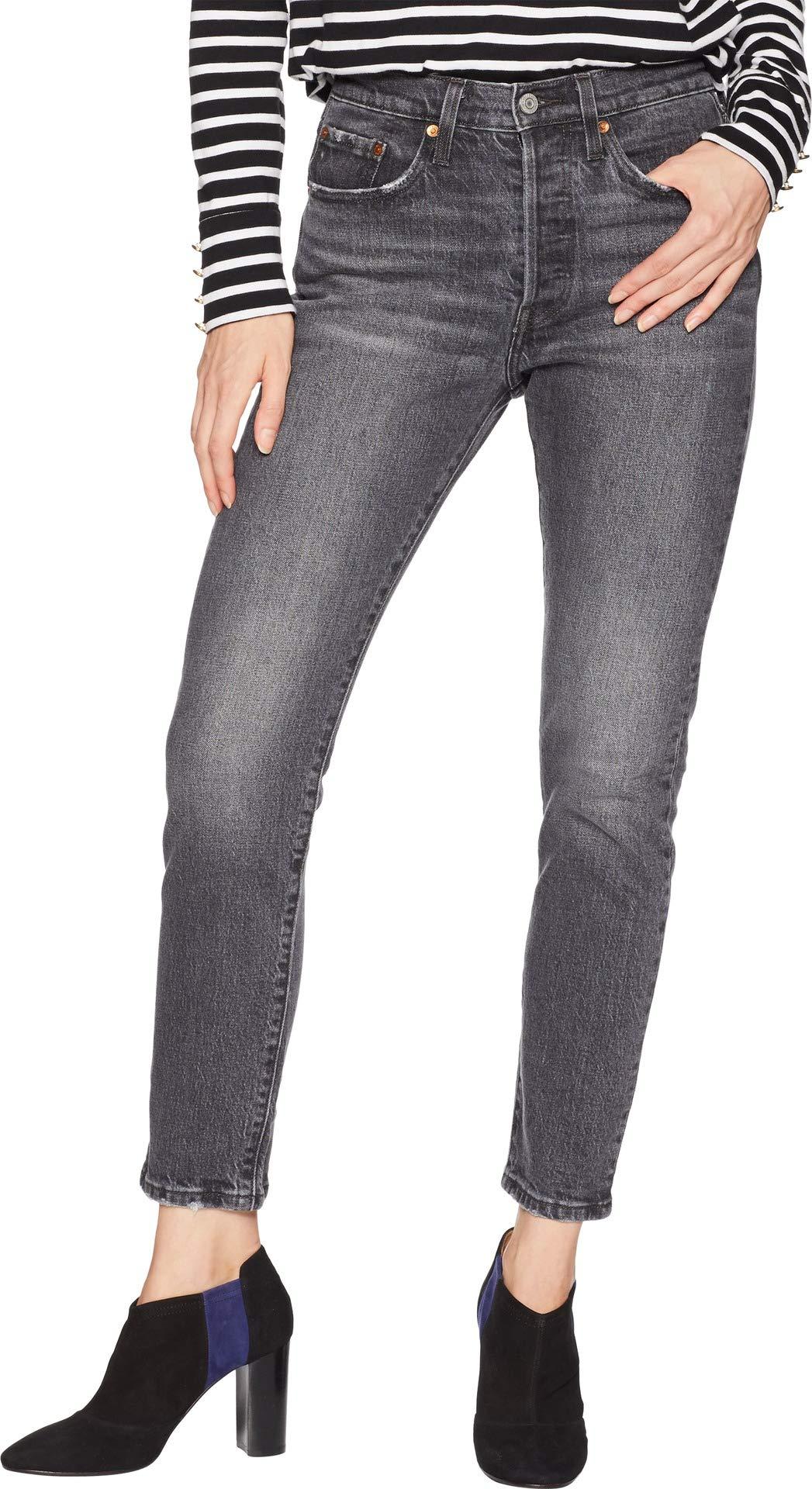 ba81247179c5 Galleon - Levi's Women's 501 Stretch Skinny Jeans, Coal Black, 25