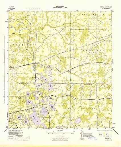Amazon Com Yellowmaps Odessa Fl Topo Map 1 31680 Scale 7 5 X 7 5