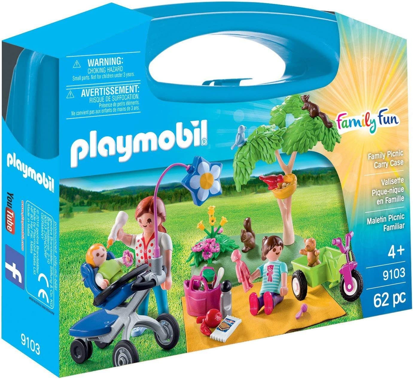 PLAYMOBIL- Maletín Grande Picnic Familiar, única (9103): Amazon.es ...