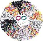 Souarts 1300PCS Acrylic Letter Beads, Valentines Bracelets 6x6mm Beads for DIY