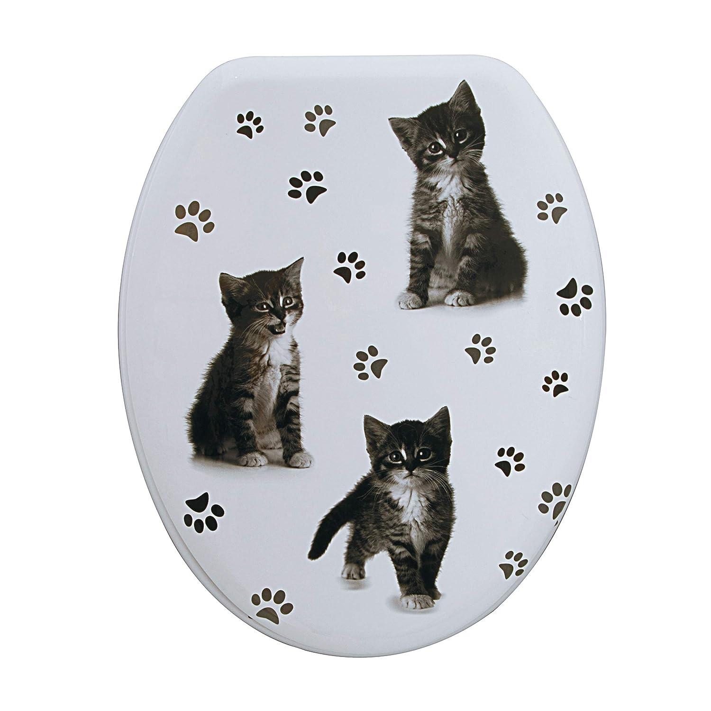 Spirella WC WC WC Deckel MDF mit Absenkautomatik Katze mit High Gloss Finish und Schnellbefstigung Scharniere aus Edelstahl B07K8J7FBC WC-Sitze bda3e7