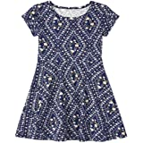 The Children's Place girls Printed Pleated Dress Dress