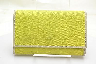 promo code 54aac 972e2 Amazon | [グッチ] Gucci 二つ折り財布黄色 化学繊維[中古]34103 ...