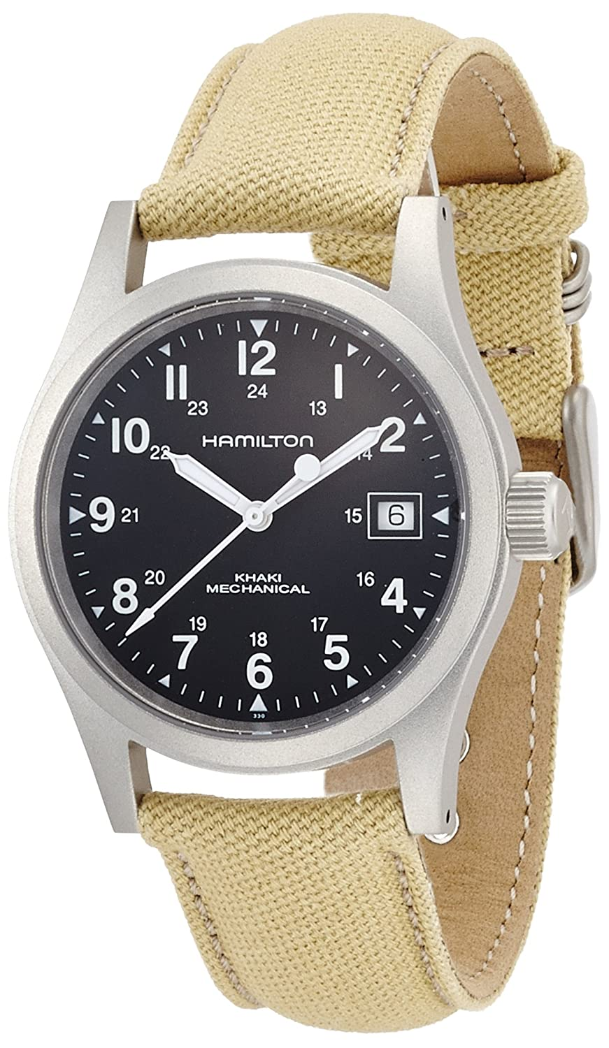 Hamilton Men's Analogue Mechanical Watch with Textile Strap H69419933:  Amazon.co.uk: Watches