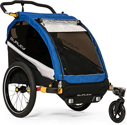 Burley D'Lite 1 and 2 Seat Kids Bike Trailer & Stroller