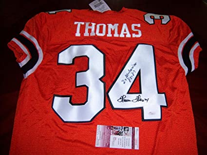 63d30c20f49 Image Unavailable. Image not available for. Color  Signed Thurman Thomas  Jersey - 2x All American coa - JSA Certified - Autographed College Jerseys