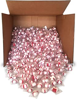 product image for Red Bird Soft Peppermint Puff Candy 20 lb Bulk, individually wrapped, made with 100% cane sugar and natural peppermint oil