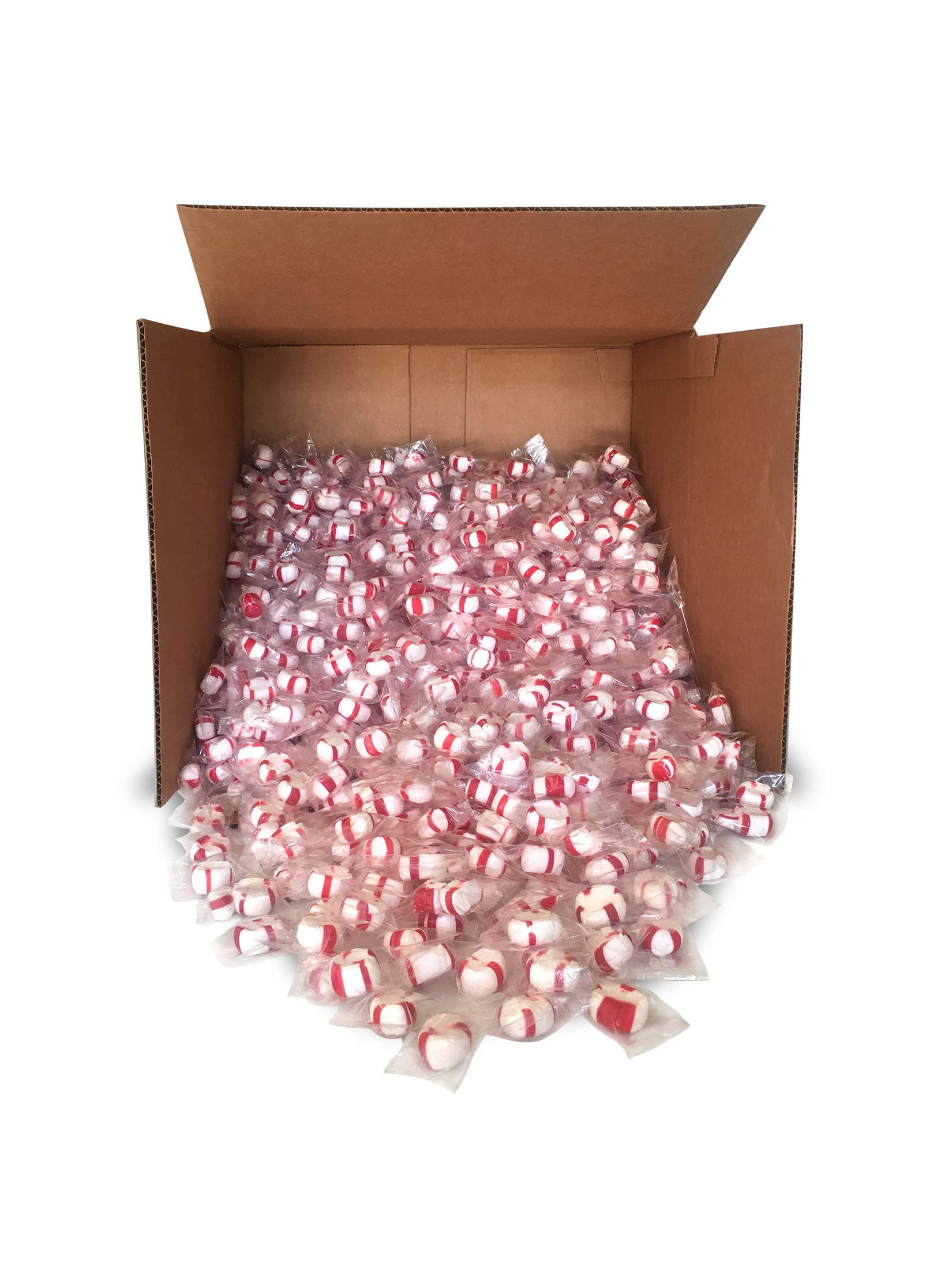 Red Bird Soft Peppermint Puff Candy 20 lb Bulk, individually wrapped, made with 100% cane sugar and natural peppermint oil by RED BIRD SOUTHERN REFRESH - MINTS