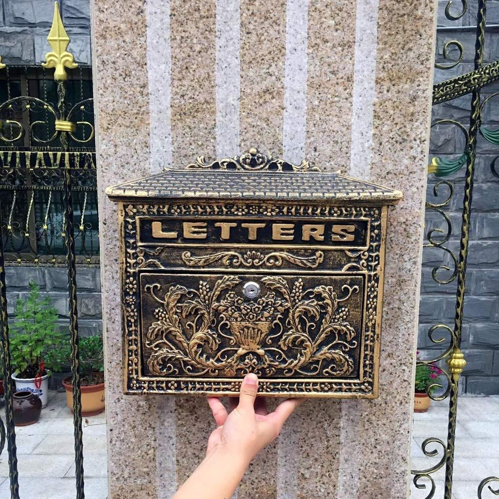 IRVING 大容量の鋳造物アルミニウム郵便箱、型の屋外のロックできる郵便箱   B07R75HJBB