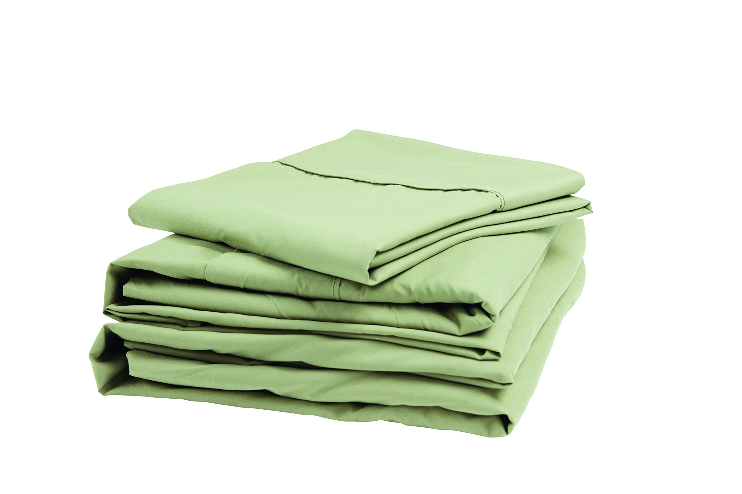 Denver 343508 RV Queen Size Sateen Sheet Set Sage by Denver Mattress