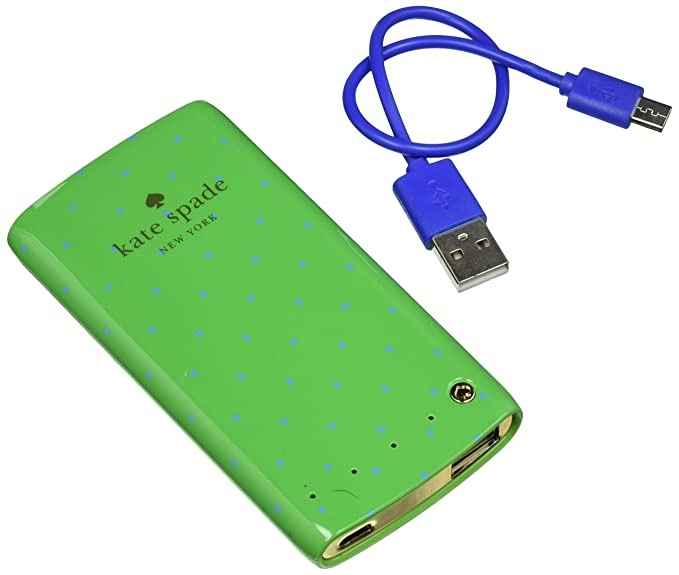 brand new a11dd 574be kate spade new york Portable Battery Charger [4000 mAh] USB Charging Power  Bank Backup Battery Pack - Green