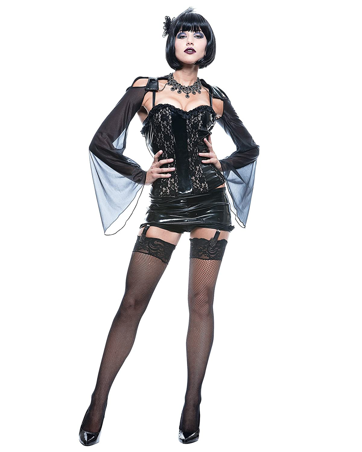 Amazon.com Summitfashions Sexy Gothic Mistress Costume Midnite Mistress Black Corset Theatre Costumes Clothing  sc 1 st  Amazon.com : gothic womens costumes  - Germanpascual.Com