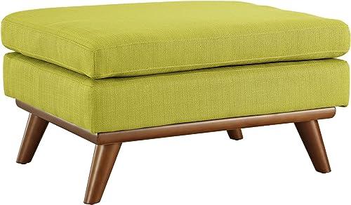 Modway Engage Mid-Century Modern Upholstered Fabric Ottoman