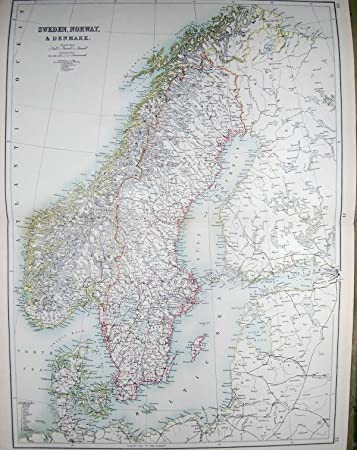 Karte Norwegen Dänemark.Die Karte Des Schwarzen Schweden 1890 Norwegen Dänemark Gottland