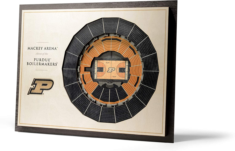 NCAA Purdue Boilermakers 5-Layer Stadiumviews 3D Wall Art, Standard Version, 17