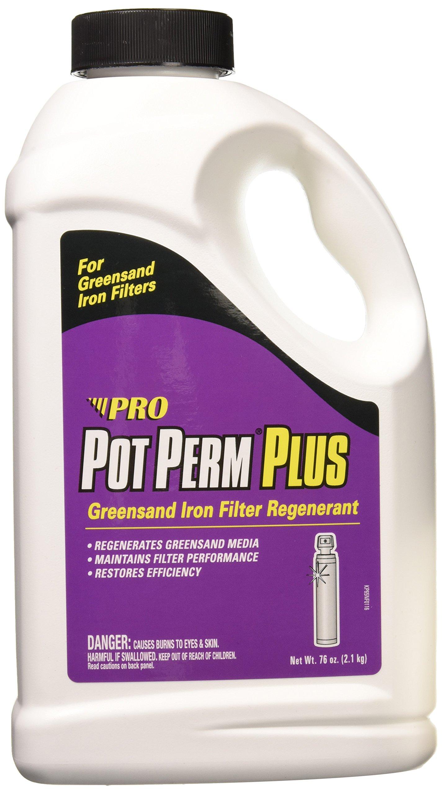 Pot Perm Plus Potassium Permanganate Greensand Iron Filter Regenerant 76 Ounce Bottle by Pro Products
