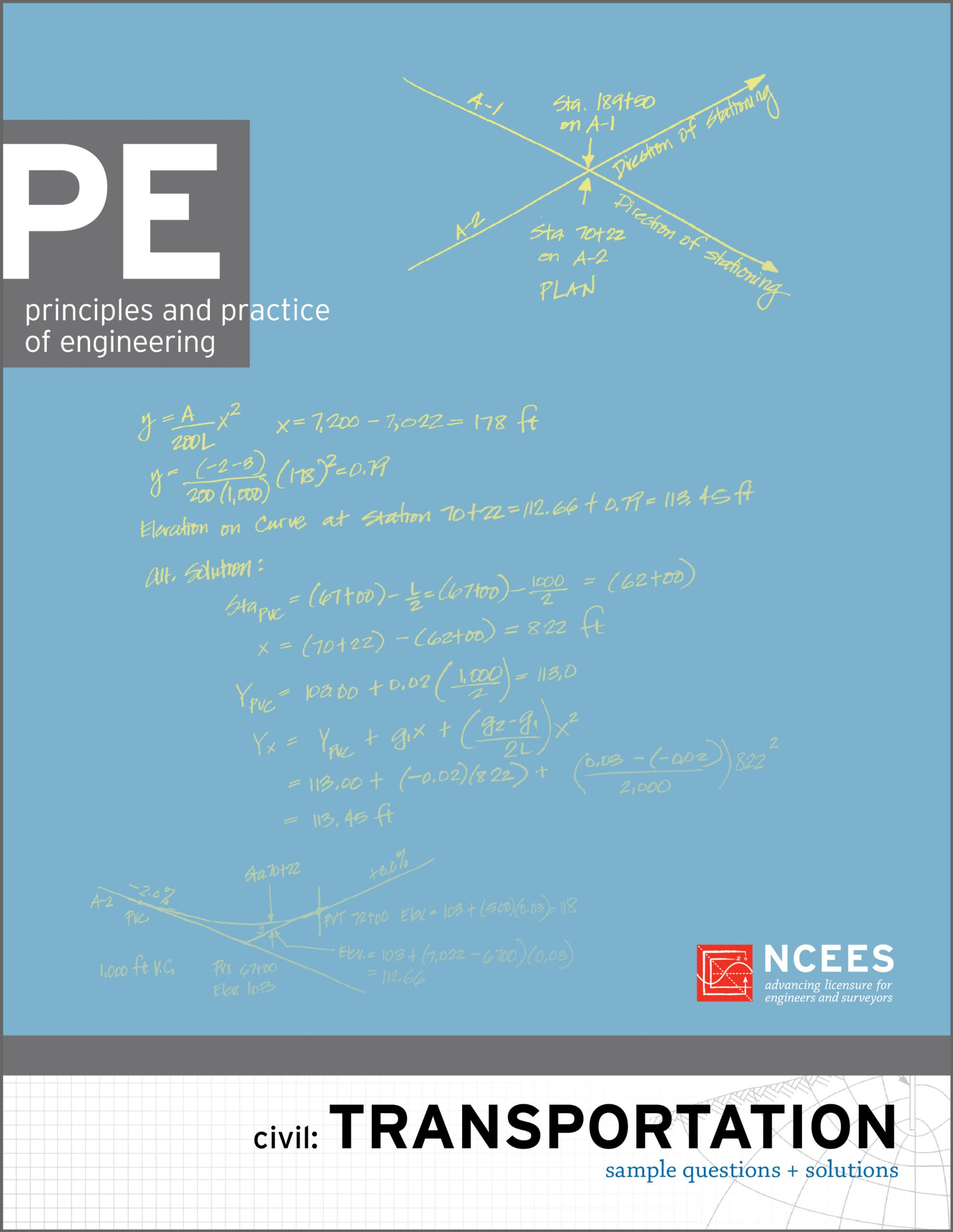 PE Civil: Transportation Sample Questions and Solutions: NCEES:  9781932613643: Amazon.com: Books