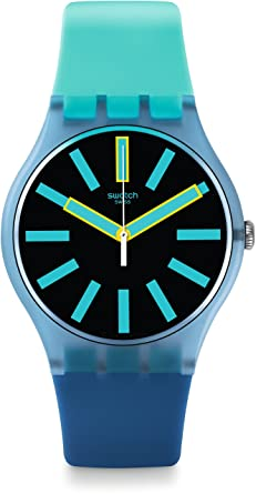 Swatch Reloj Digital de Cuarzo para Hombre con Correa de Silicona - SUOS105: Amazon.es: Relojes
