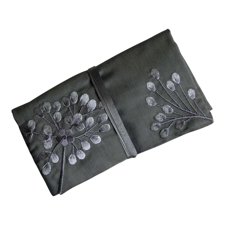Gioielli rotolo, fatto a mano, commercio equo e solidale, Argento, Grigio, Rosa Ricamato Ecoblue 1