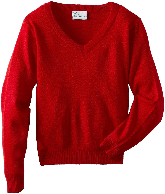 CLASSROOM Little Boys' Uniform Unisex Long Sleeve V-Neck Sweater 56702