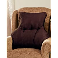 Faux Suede Back Rest Lumbar Support Cushion