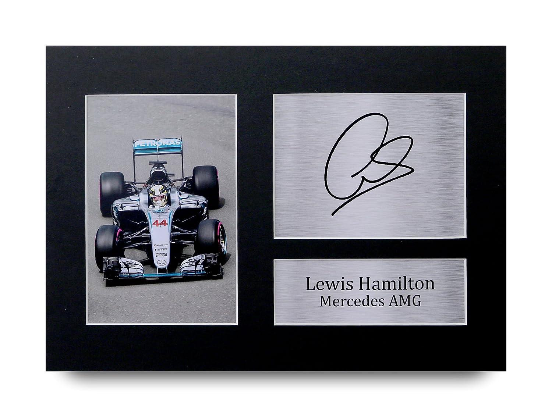 HWC Trading Lewis Hamilton Geschenke Unterzeichneten A4 Gedrucktes Autogramm Mercedes F1 Druck-Foto-Bilderanzeige