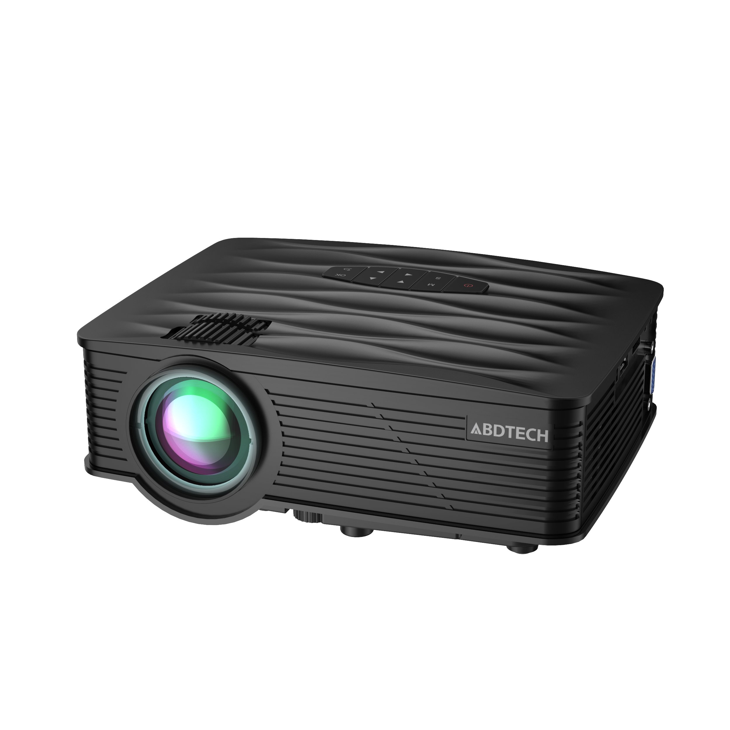 Abdtech Portable Mini Projector 1200 Lumens Home Theater LED Movie Projector Support 1080P Input HDMI USB SD VGA AV Interface For Outdoor Movie Night Home Cinema And Video Games