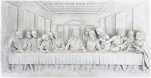 Design Toscano KY11448 The Last Supper Religious Wall Frieze Sculpture