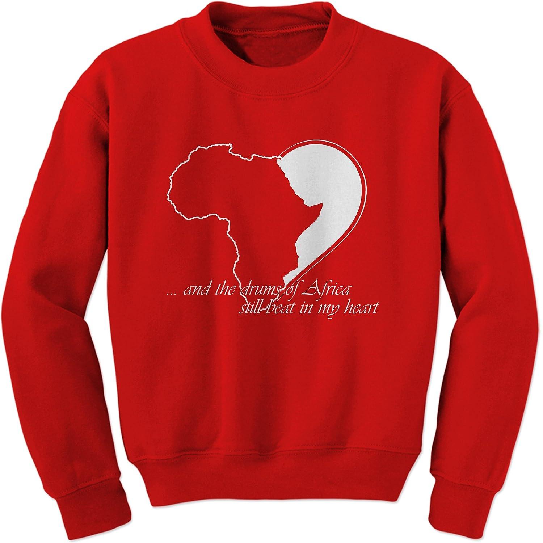 FerociTees Drums of Africa Quote Black History Pride Culture Crewneck Sweatshirt