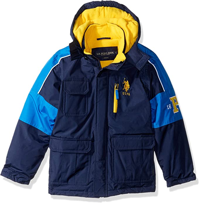 U.S. Polo Assn. Niños O_UD59H Abrigo sintético - Azul - 4 años ...