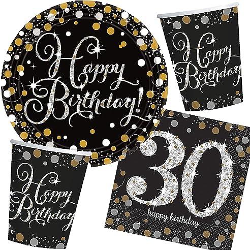 32 Teiliges Partyset * SPARKLING CELEBRATION * Für Den 30. Geburtstag // Mit