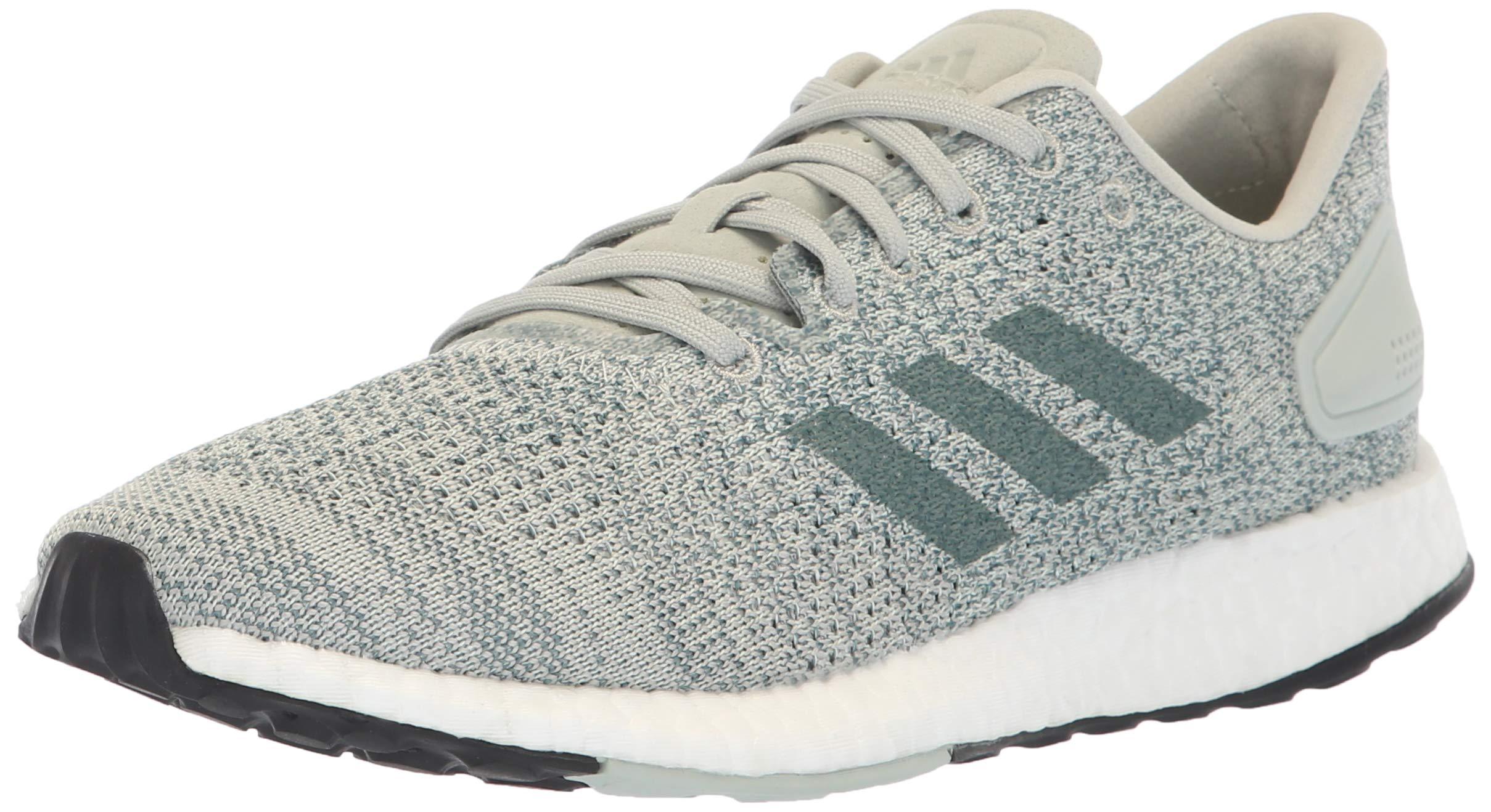 adidas Women's Pureboost DPR Running Shoes, ash Silver/raw aero Green, 5.5 M US