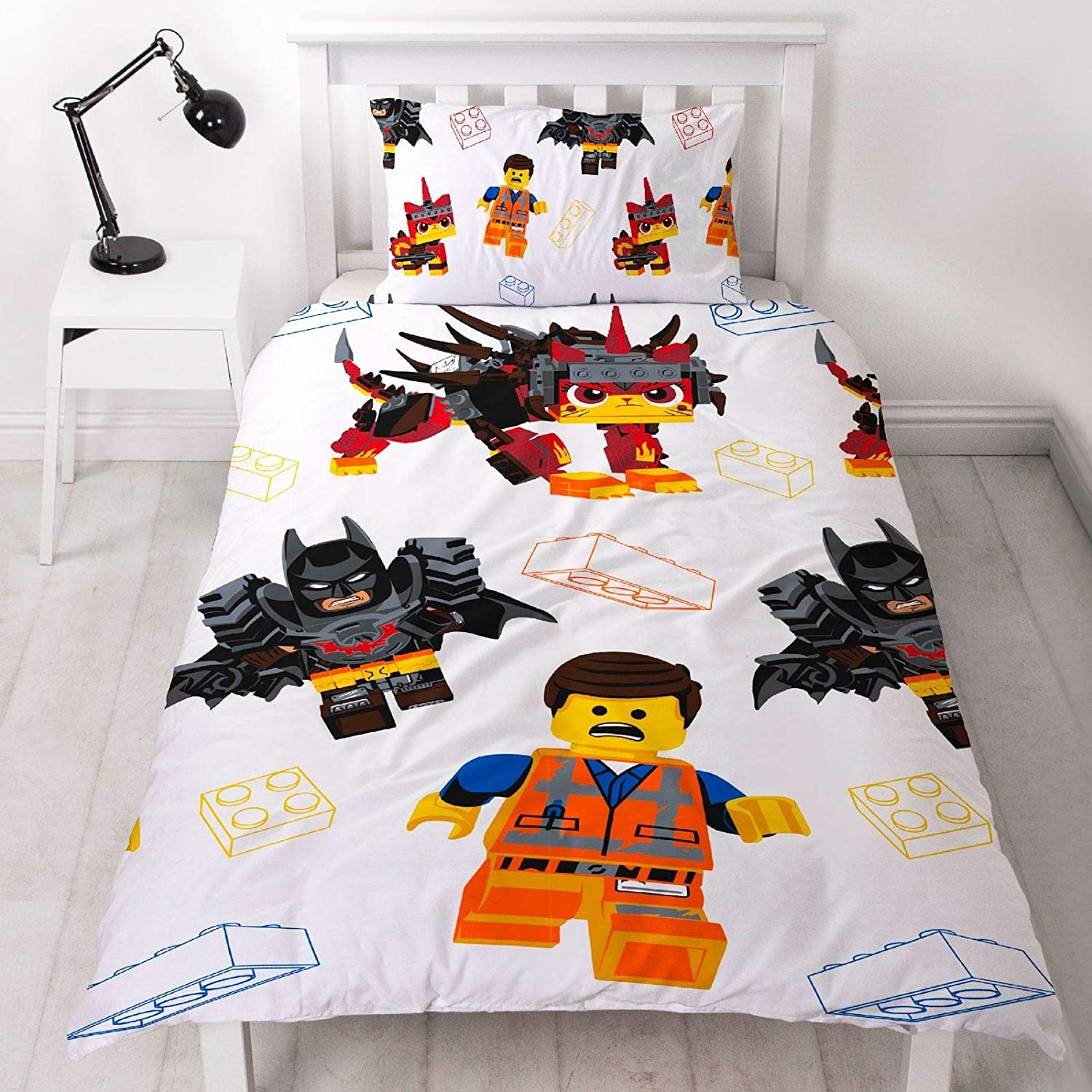 LEGO Movie 2 Awesome UK Single/US Twin Duvet Cover and Pillowcase Set