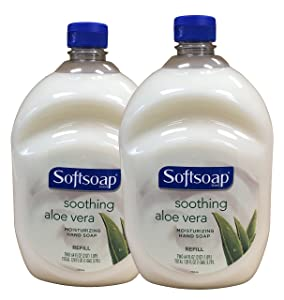 Softsoap Hand Soap Soothing Aloe Vera Moisturizing Hand Soap Refill 64 Fl Oz Bottle (Pack of 2)