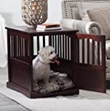 NEW Wooden Pet Crate end table kennel cage furniture dog pen indoor house bed Small