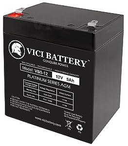 VICI Battery VB5-12 - 12V 5AH Chamberlain 41A6357-1 Garage Door Opener Battery Brand Product