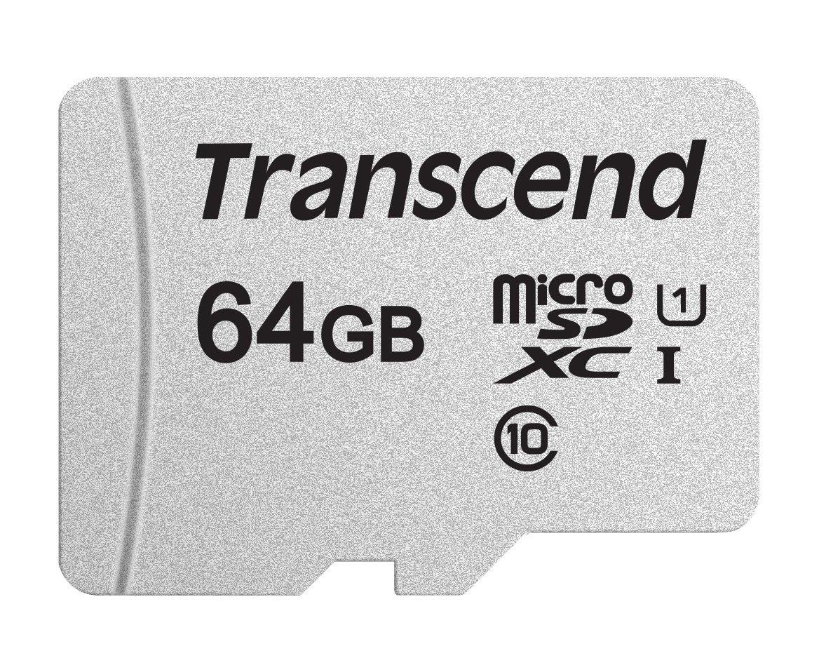 Transcend TS64GUSD300S 64GB UHS-I U1 MicroSD Memory Card