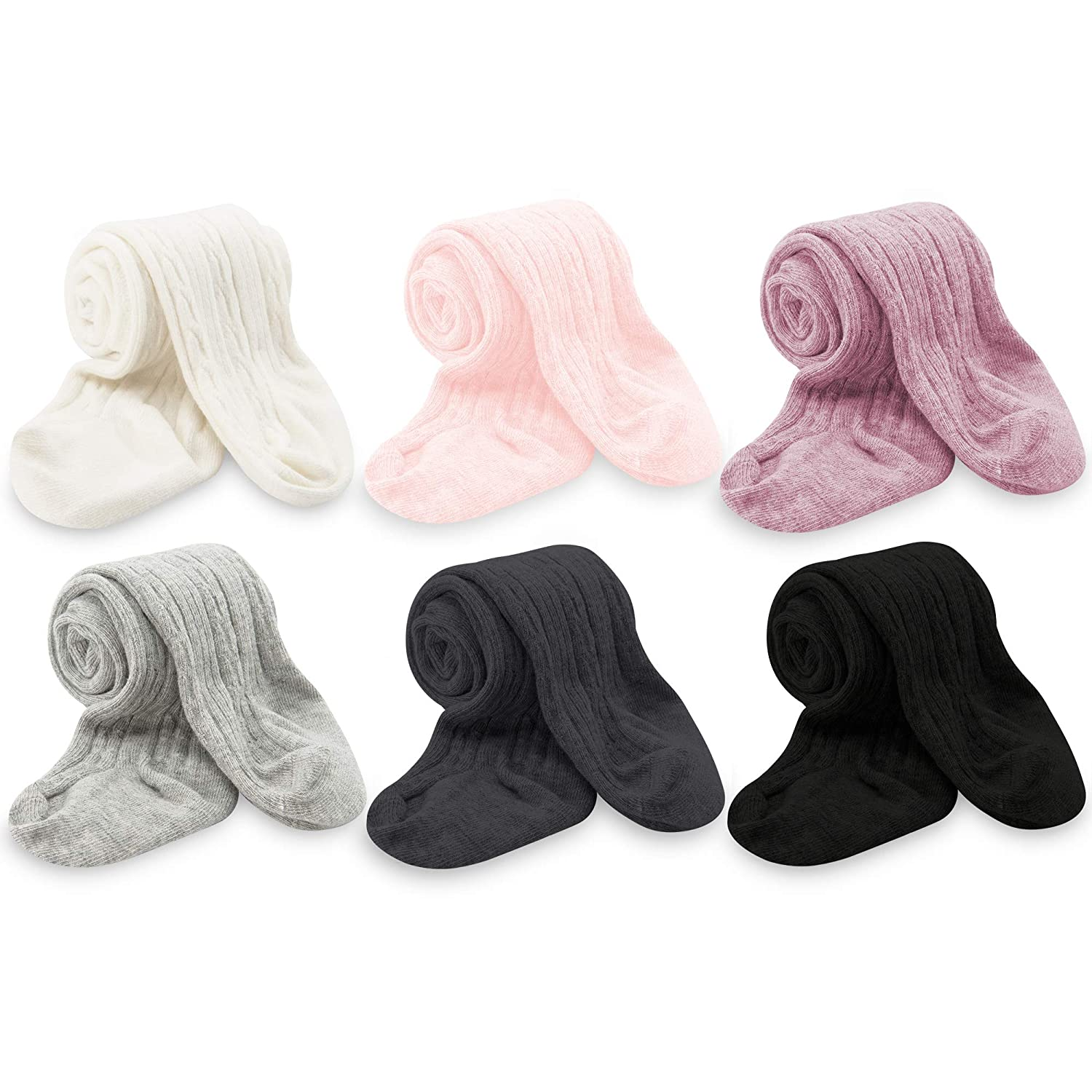 Zando Baby Girls Tights Soft Cable Knit Cotton Leggings For Baby Big Girls Toddler Seamless Socks Infant Pants Stockings MNFUZBS2727L0000