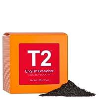 T2 Tea English Breakfast Loose Leaf Black Tea in Box, 3.5 Ounce (100g)