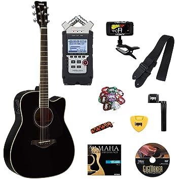 Yamaha fgx820 C Folk Guitarra acústica con cutaway guitarra eléctrica, parte superior sólida, Madera
