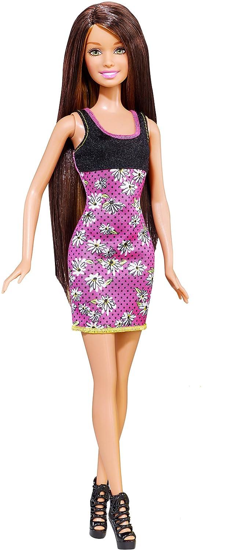 amazoncom barbie long hair doll brunette toys games barbie doll