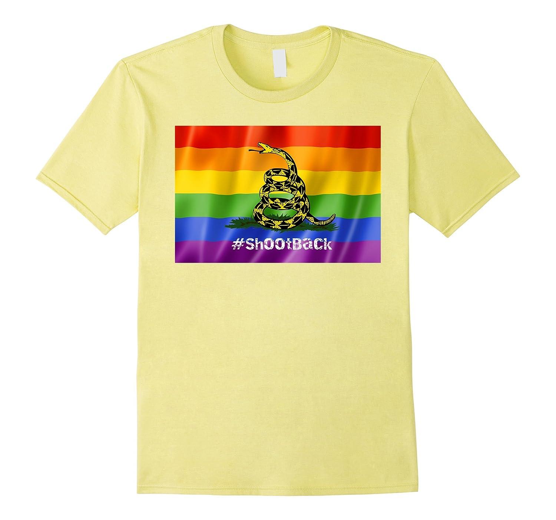 #ShootBack Rainbow Gay Pride Tee-BN